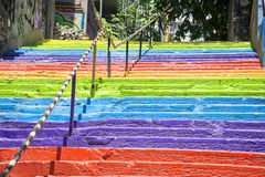 Istanbul rainbow stairs. A rainbow stair in Istanbul Stock Photos