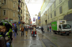Istanbul rainy street Royalty Free Stock Photography