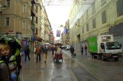 Istanbul rainy street Royalty Free Stock Photography