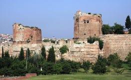 istanbul rampartkalkon Arkivbild