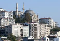 Istanbul Residential District Mosque Stock Photography