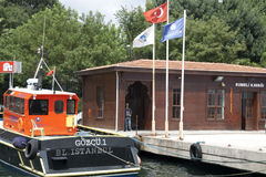 Istanbul - Rumeli Kavagi Ferry Boat Station Stock Photography