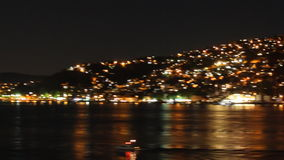 Istanbul`s hills at night stock footage
