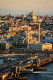 Istanbul scenery.View on Golden Horn bay from Galata Tower. Royalty Free Stock Image