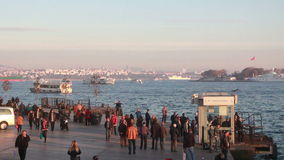 Istanbul/sea/steamboat/time lapse/people/crowd/december 2015. Istanbul /crowd /december 2015 / istanbul HD 1080 stock video footage