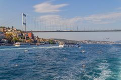 Istanbul Second bridge Royalty Free Stock Photo