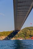Istanbul Second bridge Royalty Free Stock Photos