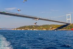 Istanbul Second bridge Stock Photography
