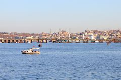 Istanbul seen from the sea Stock Photos