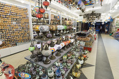 ISTANBUL - September, 20 Lamp shop with colorful Royalty Free Stock Images