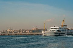 Istanbul City Ship Stock Images