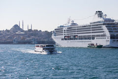 Istanbul ship sightseeing cruises Stock Image