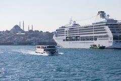 Istanbul ship sightseeing cruises stock image
