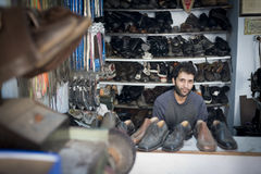 Istanbul Shoe Repair Shop Royalty Free Stock Photography