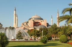 Istanbul sightseeing: Hagia Sophia. Majestic Hagia Sophia landmark in Istanbul at daylight Royalty Free Stock Image