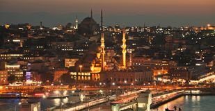 Istanbul sightseeing by night Stock Images
