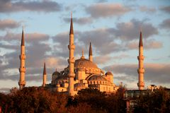 Istanbul sightseing Blue Mosque Stock Images