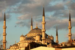 Istanbul sightseing Blue Mosque Stock Photos