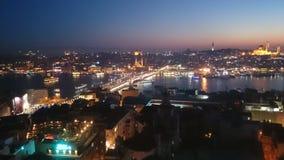 istanbul sikter från Galata Arkivbild