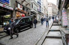 Istanbul sikter gammala gator Royaltyfria Foton