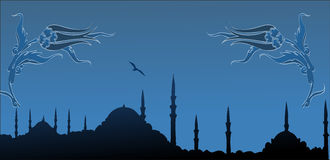 Istanbul silhouette. City silhouette of istanbul Turkey Turkiye Royalty Free Stock Photo