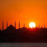 Istanbul silhouette Stock Photos
