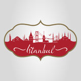 Istanbul silhouette Stock Photography