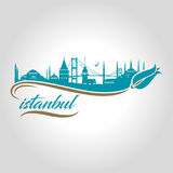 istanbul logo, icon and symbol vector illustration royalty free illustration