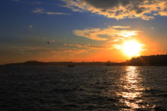 Istanbul, Silhouette Royalty Free Stock Images