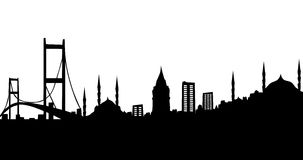 Istanbul silhouette Royalty Free Stock Image