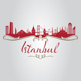 Istanbul silhouette Royalty Free Stock Photo