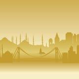 istanbul silhouettevektor Royaltyfri Bild