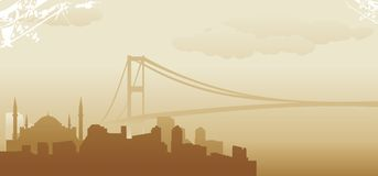 Istanbul skyline. Abstract vector illustration Stock Image