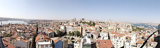 Panorama-Istanbul-Skyline Stockfotos