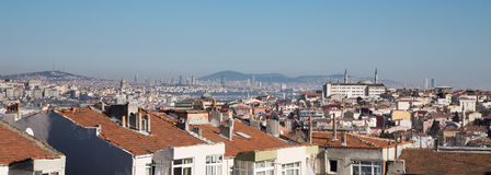 Istanbul skyline with Asian side and galata tower Stock Image