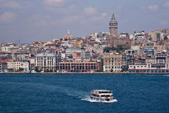 Istanbul Skyline from Bosphorus Royalty Free Stock Image