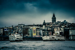 Istanbul skyline Stock Images