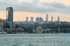 Istanbul skyline at evening Royalty Free Stock Images