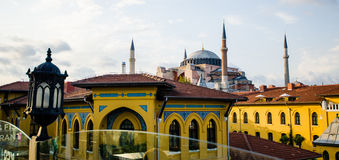 Istanbul skyline. With mosque in background Stock Photos