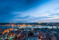 Istanbul skyline panorama Royalty Free Stock Photo