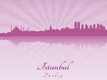 Istanbul skyline in purple radiant orchid Stock Image