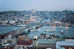 Istanbul skyline at sunset Stock Photos