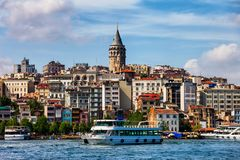 Istanbul Skyline in Turkey royalty free stock images