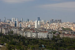 Istanbul with skyscrapers Stock Image