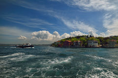 Istanbul small port, Bosporus-Turkey Stock Photography