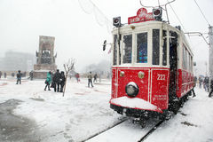 Istanbul on a snowy day Stock Photos