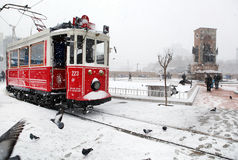 Istanbul on a snowy day Royalty Free Stock Images
