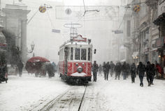 Istanbul on a snowy day Stock Image