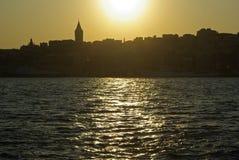 istanbul solnedgång Royaltyfria Bilder
