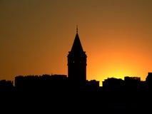 Istanbul-Sonnenuntergang Lizenzfreies Stockbild